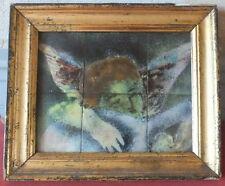 TABLEAU CERAMIQUE ANGE ENFANT MANDOLINE CERAMIC ANGEL MANDOLIN