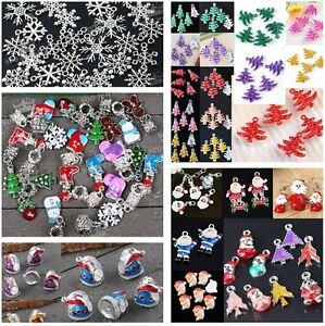 Wholesale-CHRISTMAS-TREE-SNOWMAN-SOCK-SNOWFLAKE-BEAD-For-Charm-Pendant-Craft-DIY