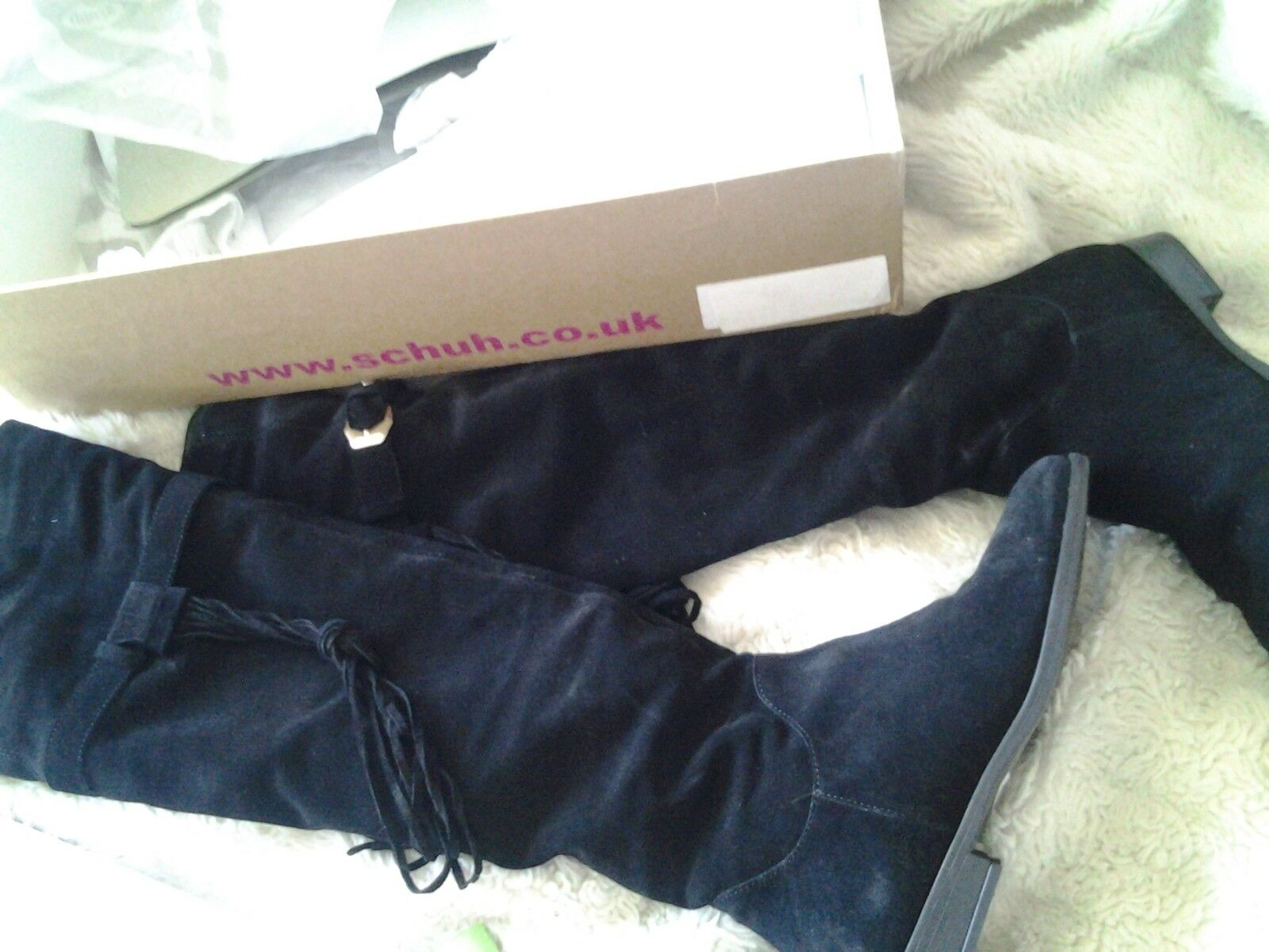over knee boots black  suede size 5 cost  black selling 85837f