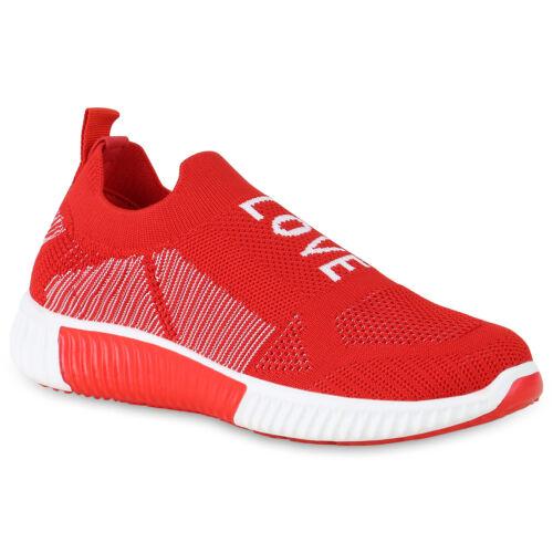Damen Sportschuhe Slip Ons Strick Laufschuhe Logo Print Sneaker 830093 Schuhe