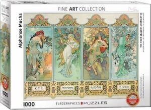 Eurographics Puzzle 1000 Piece - Alphonse Mucha - Four Seasons EG60000824