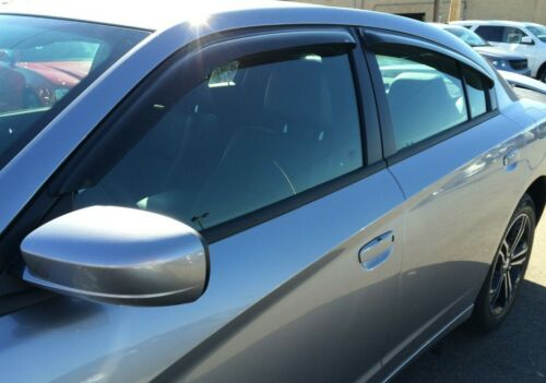 Dodge Charger 2011-2019 Tape-On Wind Deflector Vent Visor Shades 4pc