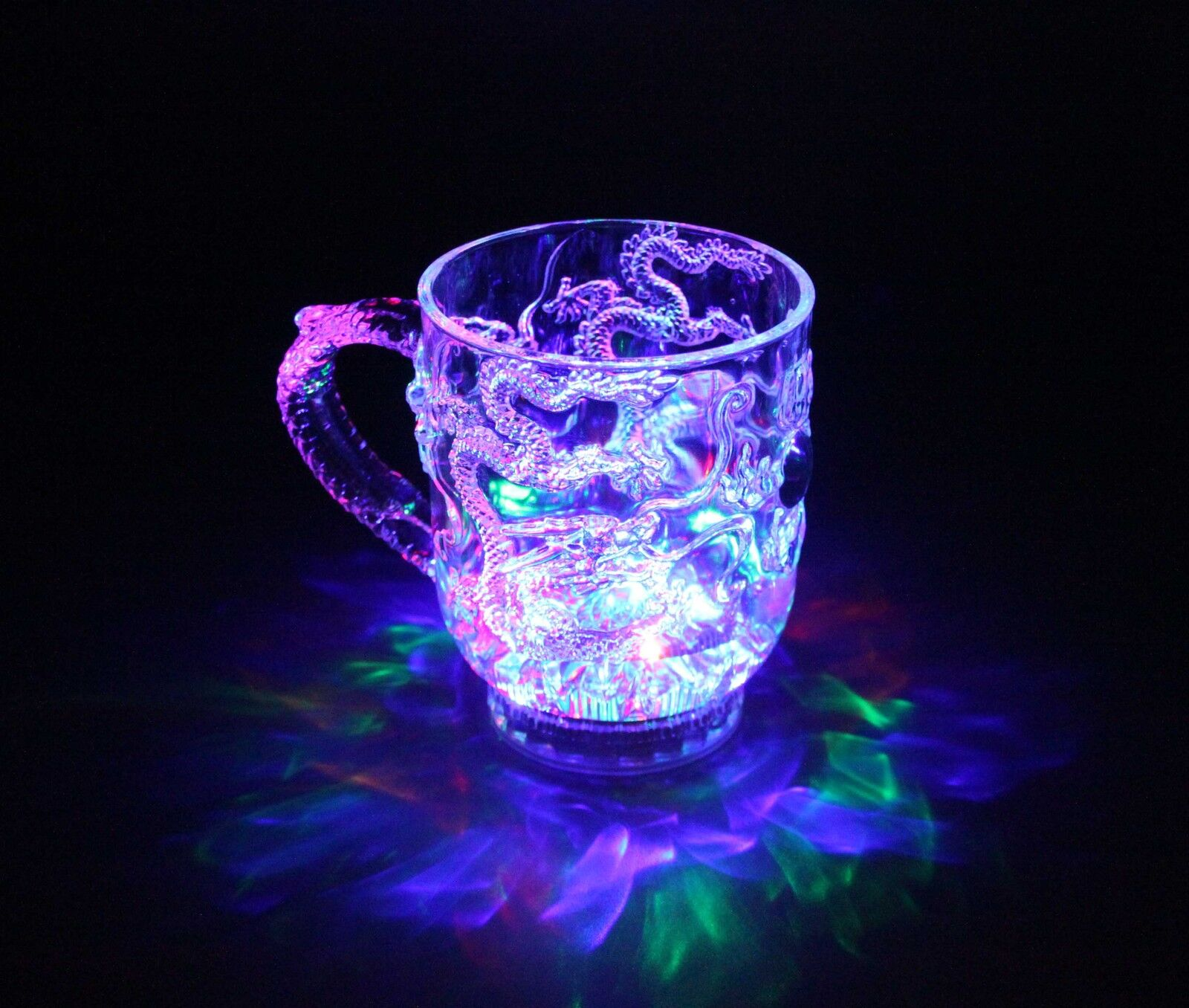 Fa Cristal Draggoncup Intermitente Taza Parpadeo LED Vaso de Whisky Brillante