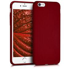 kwmobile TPU Schutz Hülle für Apple iPhone 6 6S Rot matt Case Silikon Cover