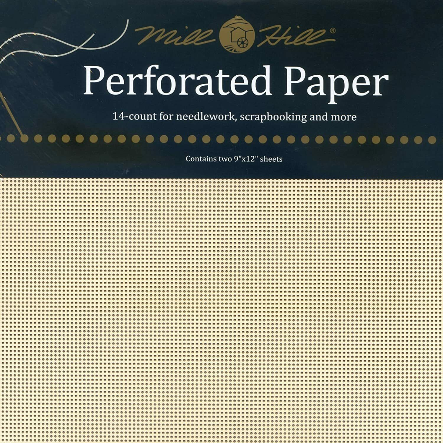 14-ct. 2-ct Antique Brown White and Ecru 3 6 Sheets Total 2 of Each Color Packs Perforated Paper Bundle /& Decorative Needleworker Magnet