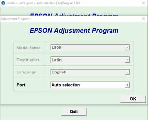 Details about Reset Epson L805 100%