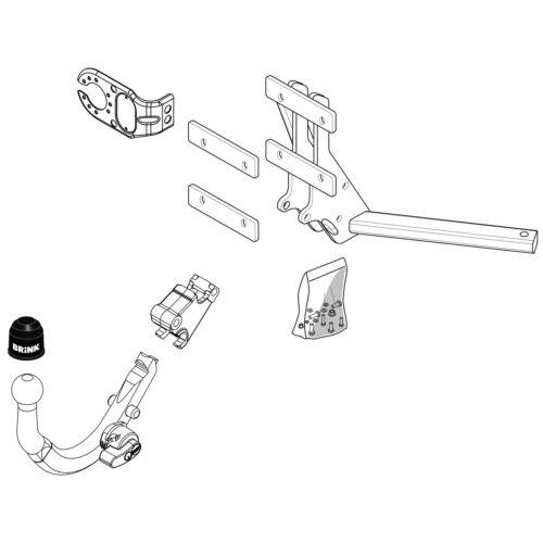 Detachable Tow Bar Brink Towbar for Saab 9-3 Saloon 2002-2015