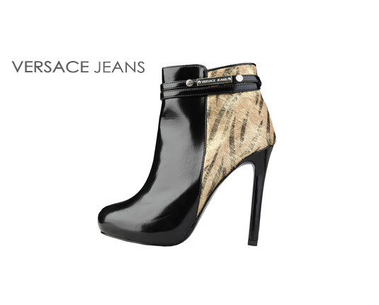 Versace Jeans Patent Ankle Boots