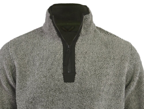 Men/'s Fishing Fleece Heavy Weight  Macaroni Sweatshirt 1//4 Zip Jacket Top S-XXL