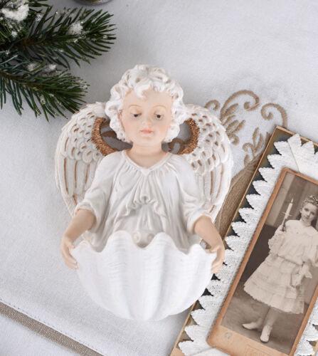 Weihwasserbecken Cupido Weihwasserschale Antikstil Engel Weihwassergefäss Amor