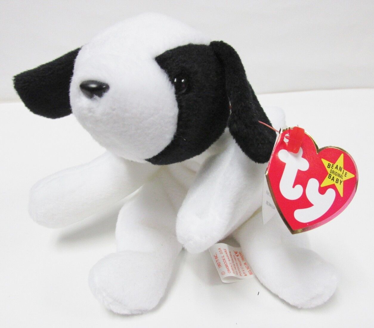 Ty Beanie Baby Spot SUPER RARE Dog, PRISTINE w MINT 4th Gen Swing Tag, 4th Tush