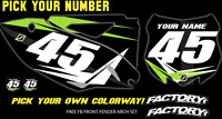 Kawasaki Kxf 250 09-12 Pre Printed Number Plate Backgrounds Fast Guy W/airbox