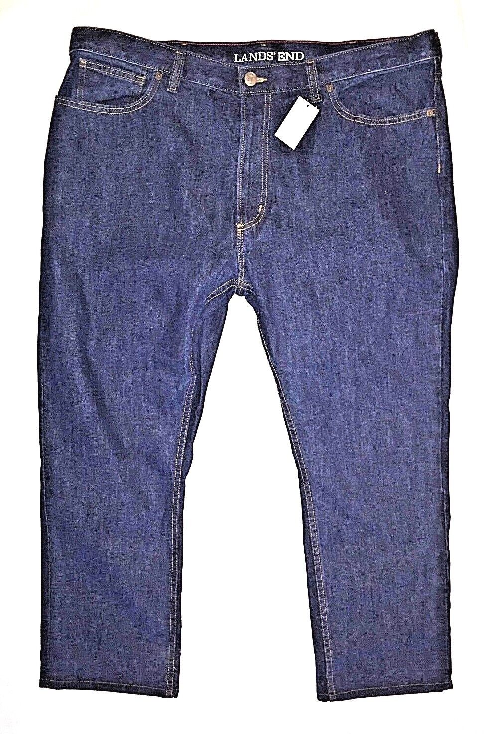 Lands' End Men's Straight Fit bluee Jeans Size 42 X 28 New With Tags