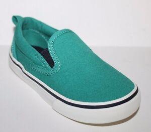 baby Gap NWT Boys 7 8 Jade Green Canvas Slip On Shoes | eBay