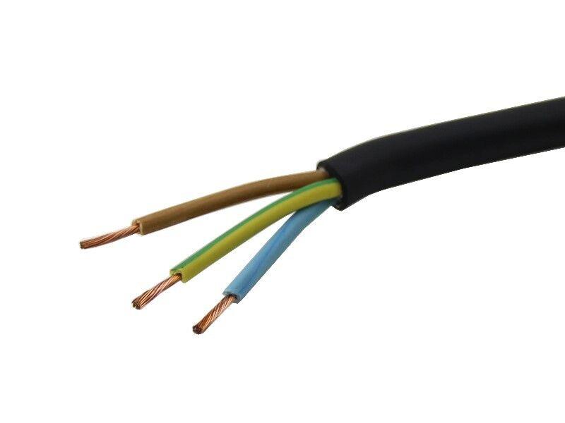 Outdoor Gummi Kabel schwarz 3x0,75mm² Gummischlauchleitung 1-25m    Offizielle