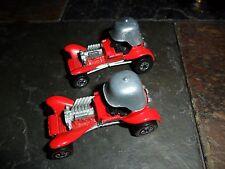 2 LOT BOTH VERSIONS ORIGINAL RED ENAMEL HOT WHEELS RED BARON REDLINE & BW C-8