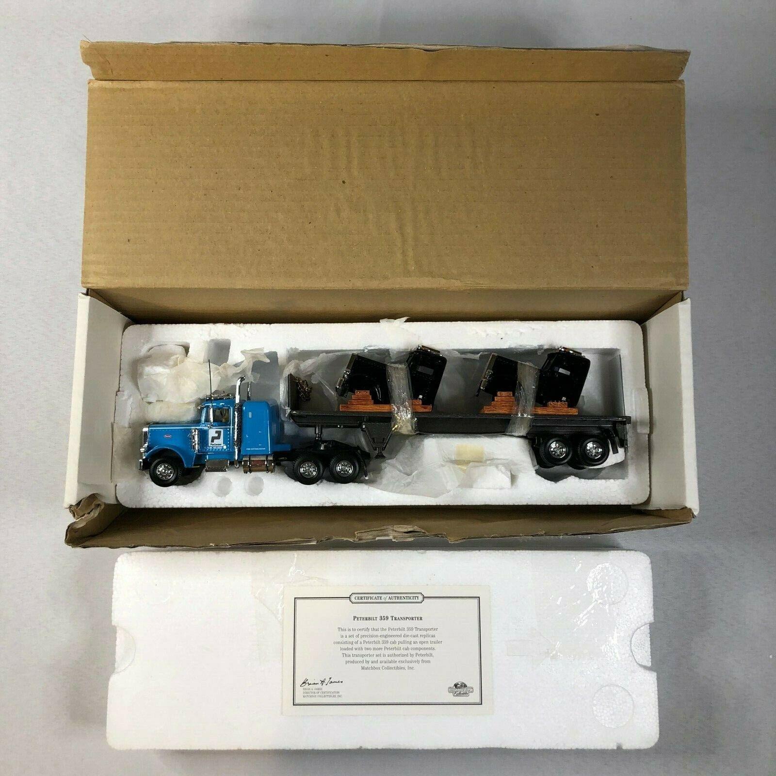 Vintage 1 58 Matchbox Ultra KS192 PETERBILT 359 TRANSPORTER Rig Semi Truck w COA
