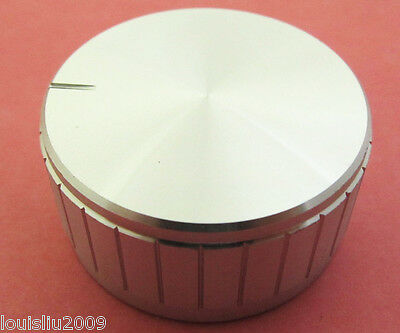 1x Knobs Aluminum Metal Silver High Quality with shaf