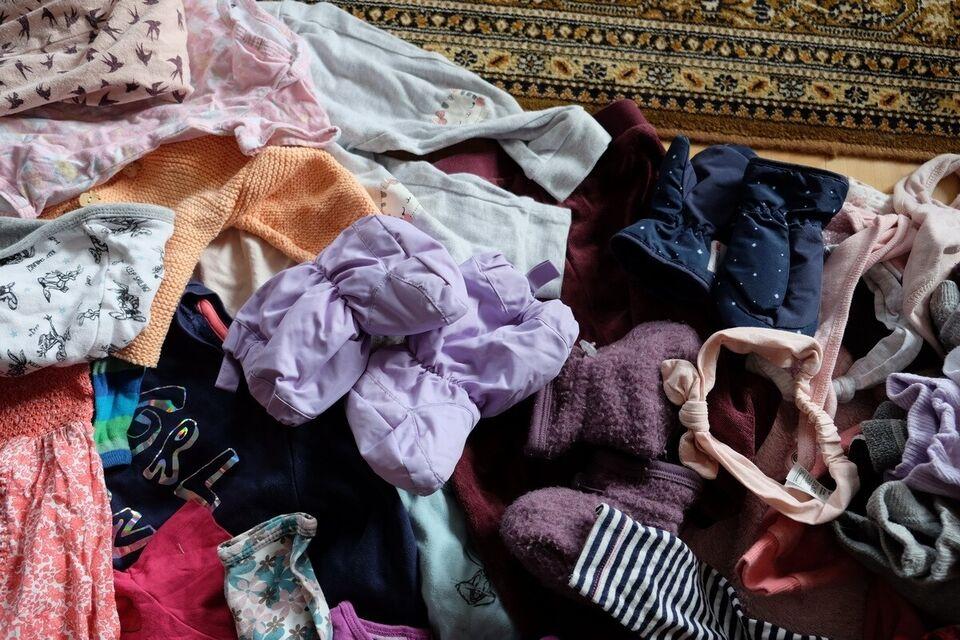 Blandet tøj, str. 80