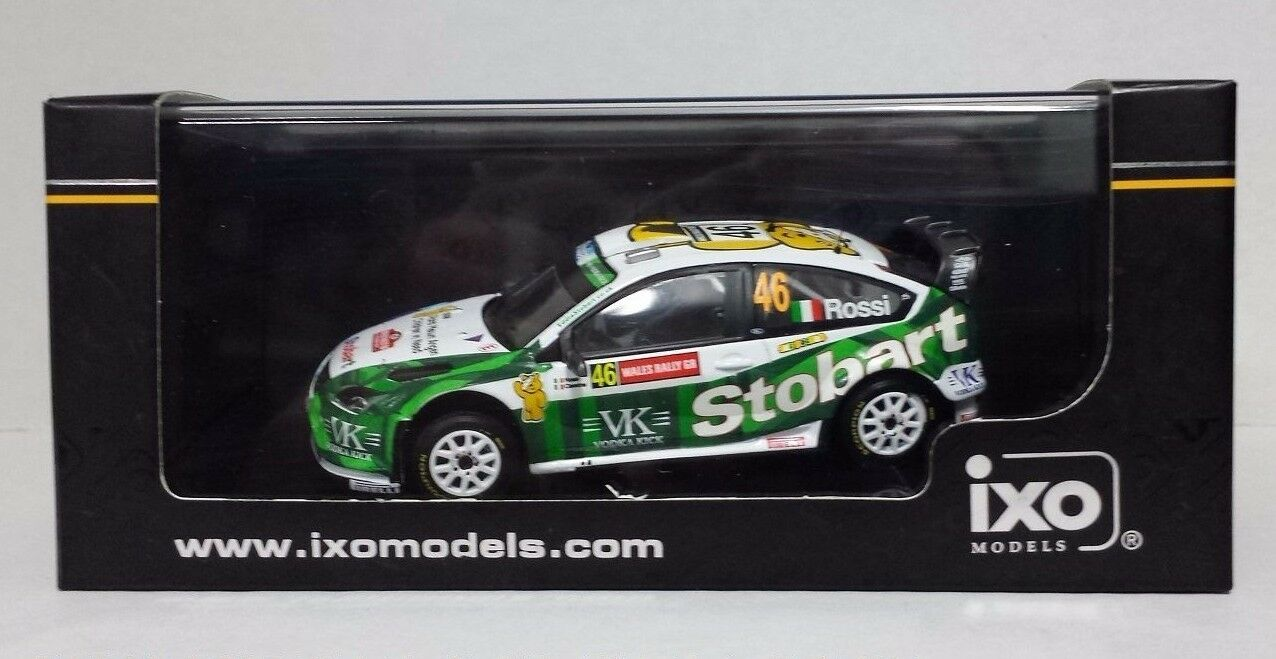 IXO 1/43 VALENTINO ROSSI AUTO FORD FOCUS WRC  WALES GB RALLY 2008  LIMITED NEW