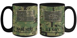 Gift for Military Navy Veteran US Navy Petty Officer 2nd Class E5 15 oz Mug