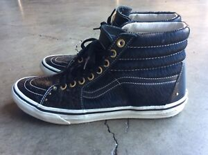 2b72b2ecc00 RARE JAPAN Vans Sk8-Hi LUX Pony Hair Patent Leather Sneaker 11 Black ...