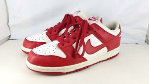 2005 MEN S NIKE DUNK LOW VARSITY RED WHITE SIZE 8 309431-161 VERY ... 2f3d99bb9