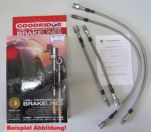 Stahlflex Bremsleitungen Audi 200 Quattro 20V 89-91 Standardbremse ABE