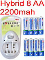 8 Low Self Discharge Rechargeable Battery+charger 4 Canon Powershot S3/s5/a600-