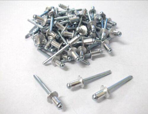 Pack of 100 4.8 x 12mm Aluminium pop rivets *Top Quality! Blind rivets