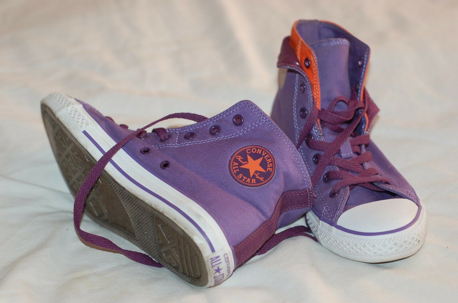Converse All Sneakers Star Purple Canvas Ankle Sneakers All Size US 6 Junior 9295da