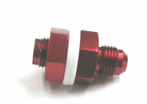 06 AN Male Flare  BOLT IN FUEL CELL BUNG TURBO RETURN LINE SHOW POLISHED RED