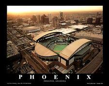 Arizona Diamondbacks CHASE FIELD GAME NIGHT Aerial View Poster Print