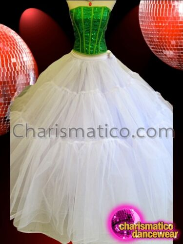 CHARISMATICO Large Triple Tiered Very Full White Ball Gown Style Skirt