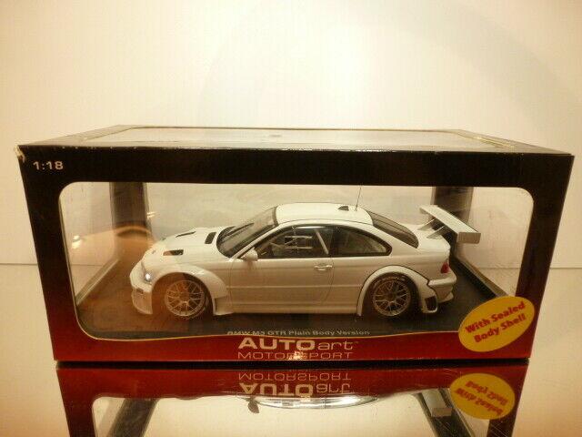 mas barato AUTOART 80448 BMW BMW BMW M3 GTR PLAIN BODY VERSION - blanco 1 18  - EXCELLENT IN  BOX  envío gratis