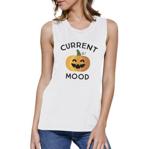 Details about  /Pumpkin Current Mood Womens White Muscle Top