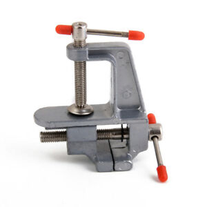 Aluminum Mini Small Jewelers Hobby Clamp On Table Bench Vise Tool Vice 665956354296