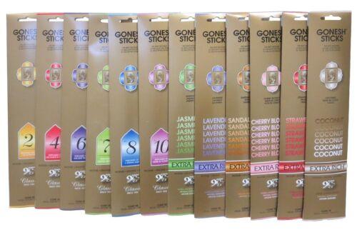 5 10 20 50 100 Packs Gonesh Incense Sticks Extra Rich 20 Stick Packs U Pick