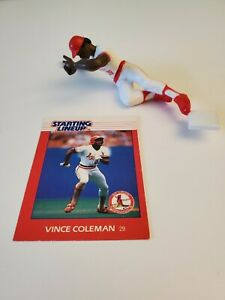 1988 VINCE COLEMAN Starting Lineup ~ Loose With Card ~ ST. LOUIS CARDINALS