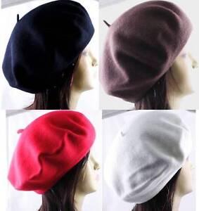 1-Piece-100-Wool-Beret-Tam-French-Artist-Beanie-Hat-Cap-Winter-Ski-Unisex