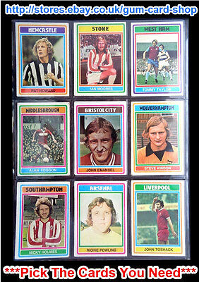 TOPPS 1976 FOOTBALL BLUE//GREY CARDS 178 TO 245 *PLEASE SELECT CARDS* G//F