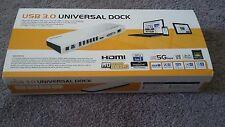LAPDOCK USB 3.0 Universal Laptop Docking Station Dual Video Outputs HDMI VGA