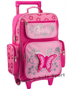 Kinder-Trolley-Reisetrolley-Kindergepaeck-Schmetterling-rosa