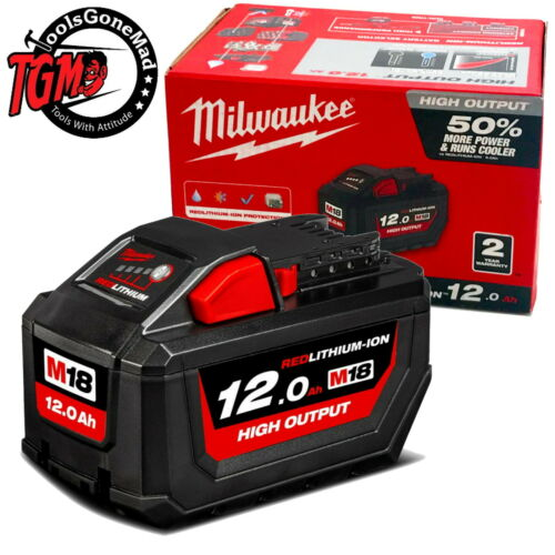 Genuine Milwaukee18V 12.0Ah High Output Demand Red LithiumIon Battery M18HB12
