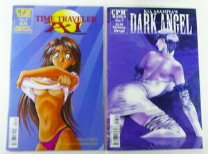 CPM-MANGA-Time-Traveler-AI-1999-2-DARK-ANGEL-7-LOT-Mature-COMICS-Ship-FREE