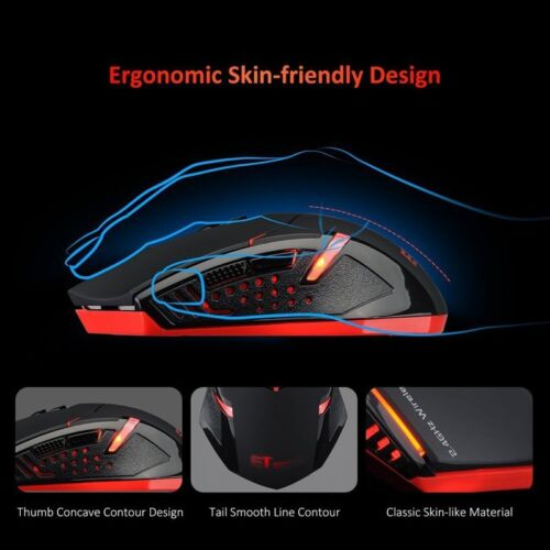 Wireless Gaming Mouse w// Unique Silent Click Optical 2400 DPI for PC Laptop Mac