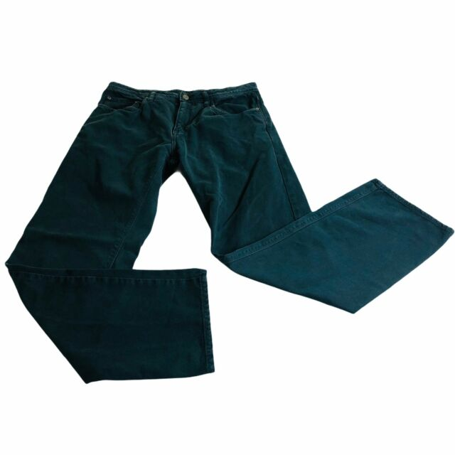 Orvis Mens Jeans 34x32 Green Straight Leg Classic Fit Denim Pants