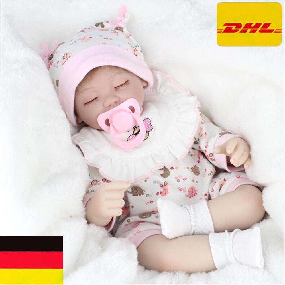 16  Reborn Baby Puppe Lebensecht Handgefertigt Silikon-Vinyl Mädchen Geschenk