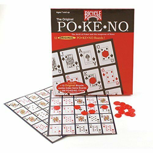 """Jumbo Pokeno Game Each board Size Is 9 1//2/"""" x 7/"""" With Pictures Of 25 Card"""