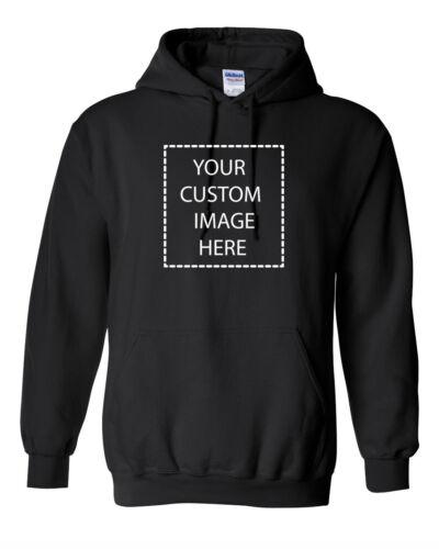 Custom Hoodie with Your PhotoTextLogoCheap Custom HoodiesBlack